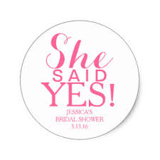bridal shower she said yes bridal shower gifts on zazzle
