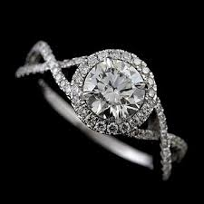 infinity engagement rings forever one moissanite diamond infinity halo engagement ring