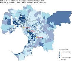 australian bureau socioeconomic disadvantage in melbourne source australian bureau of