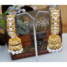 new jhumka earrings royal ethnic gold jhumka earrings