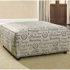 Padded Storage Ottoman Sofa Round Tufted Ottoman Leather Ottoman Coffee Table Fabric