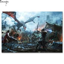 compare prices on skyrim wall art online shopping buy low price