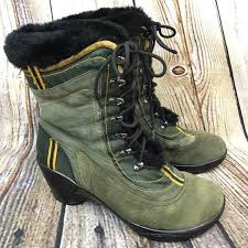 womens boots green leather j 41 adventure on womens boots pacific green leather fur lined
