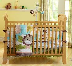 Baby Crib Bed 7 Pieces Lovely Baby Crib Bedding Set Forest Printed Baby Bed