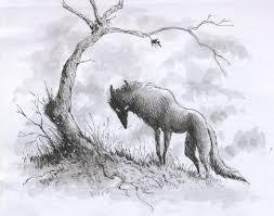 pen sketch creepy wolf by luve on deviantart