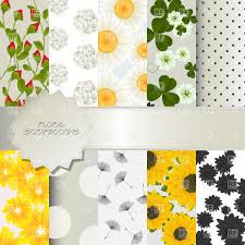 green dandelion doodle floral pattern royalty free vector clip art