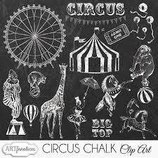 circus chalk clipart illustrations creative market