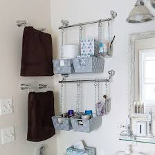 Diy Bathroom Storage Diy Hanging Bathroom Storage Bins Dwellinggawker
