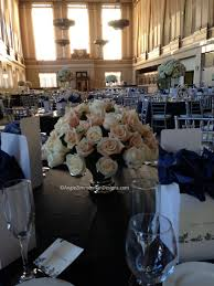 wedding floral design centerpieces in ivory and taupe