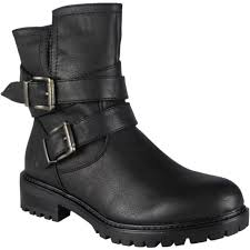 womens size 9 ankle boots uk womens buckle zip low heel army work biker ankle