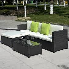 Goplus PC Patio Rattan Wicker Sofa Set Cushioned Furniture Garden - Wicker sofa sets