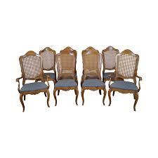 ethan allen louis xv cane back dining chairs 8 chairish