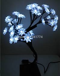 mini led cherry lotus tree font b lights b font tree font b