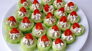 cucumber bites appetizers valya s taste of home