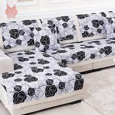 Sofa Slipcover Black Aliexpress Com Buy Black White Floral Sofa Cover Poly Cotton