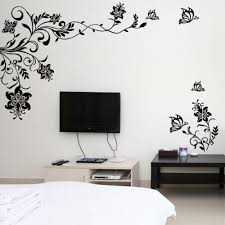 vine decals sticker living room carameloffers butterfly vine flower