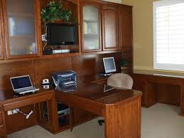 Wall Office Desk by Custom Home Office Cabinets Cabinet Wholesalers
