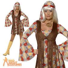 Woodstock Halloween Costume 70s Hippie Fringed Costume Woodstock 60 U0027s Womens Groovy Baby