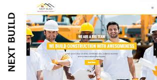 next build a construction responsive html template by nexttheme org