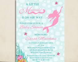 mermaid baby shower invitations mermaid baby shower invitations yourweek 869945eca25e