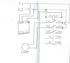 contactor and photocell wiring diagram contactor wiring diagrams