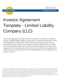 Sample Investment Agreement 10 Best Images Of Investment Agreement Template Investment