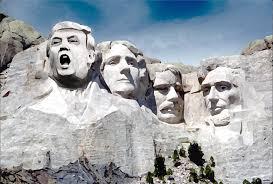 mt rushmore right wing moron thinks donald trump belongs on mount rushmore