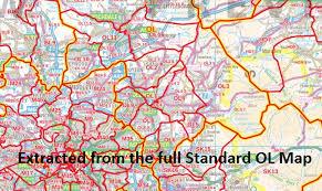 map of oldham ol postcode map
