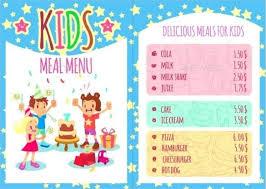 kids menu template kids menu kid menu designs kid menu templates