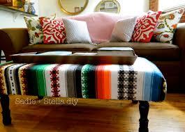 sadie stella diy rug upholstered ottoman