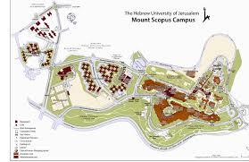 Forum Map The Hebrew University Of Jerusalem Mt Scopus Campus Map