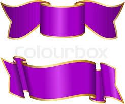 purple ribbons purple ribbon collection stock vector colourbox