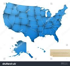 map usa all states usa map united states america all stock vector 89359639