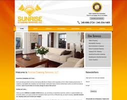 home page design cleaning company business website designing