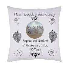 Wedding Keepsake Gifts Pearl Wedding Keepsake Cushion Personalised Names U0026 Date Ideal