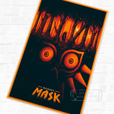 high quality abstract art videos promotion shop for high quality majora s mask the legend of zelda video game poster retro decorative diy wall stickers art home bar posters decor gift