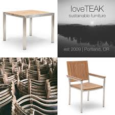 loveteak warehouse sustainable teak patio furniture