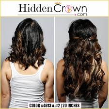 can you get long extensions with a stacked hair cut did you know you can wear two hidden crown hair extensions at once