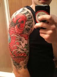 Koi Half Sleeve - my half sleeve ink koi fish