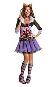 Deluxe Womens Halloween Costumes Amazon Secret Wishes Monster Deluxe Clawdeen Wolf