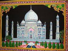 indian sequin wall hanging mughal architecture taj mahal tapestry