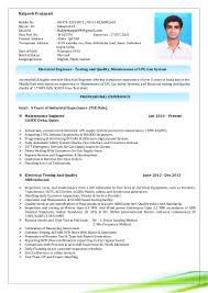 Sample Resume For Qtp Automation Testing by Test Engineer Resume Engineering Resume Resume For Mechanical Test