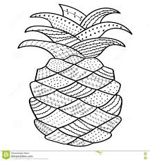pineapple whimsical line art coloring book for antistress