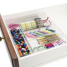 Desk Drawer Organizer Stori Clear Plastic Desk Drawer Organizers 6