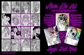 never die art coloring book sugar skull girls by carissa rose