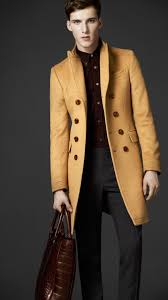 burberry camel hair top coat in natural for men lyst