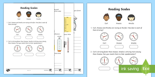 reading scales activity sheet reading scales activity
