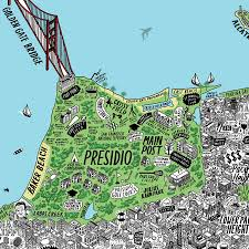 Map Of San Francisco by Mind Blowingly Detailed Hand Drawn Map Of Sf U2013 The Bold Italic