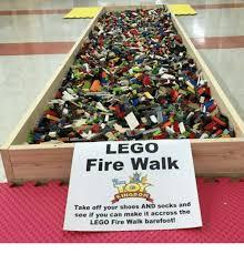 I Make Shoes Meme - lego fire walk kingdom take off your shoes and socks and see if