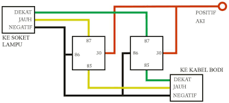 howto memasang relay untuk lampu motor do u0026 share